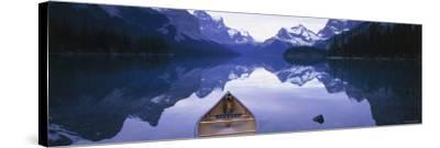 Lake Maligne, Jasper National Park, Alberta, Rockies, Canada-Peter Adams-Stretched Canvas Print