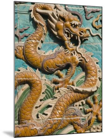 China, Beijing, Xicheng District, Behai Park, Detail of the Nine Dragon Screen-Walter Bibikow-Mounted Photographic Print