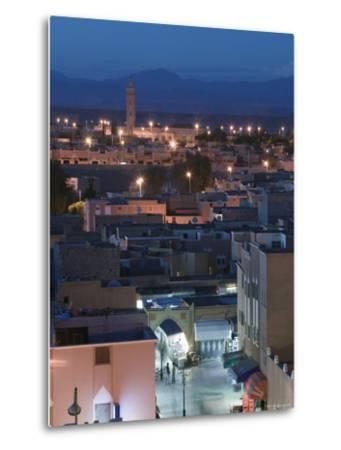 Entrance to Town Souk, Ouarzazate, Atlas Mountains, Morocco, North Africa-Walter Bibikow-Metal Print