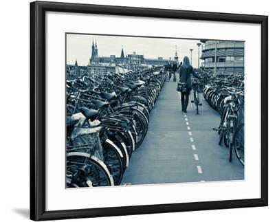 Holland, Amsterdam, Bicycle Park Outside the Main Train Station-Gavin Hellier-Framed Photographic Print