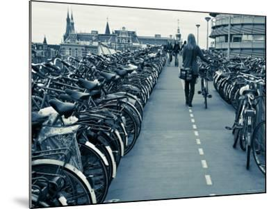 Holland, Amsterdam, Bicycle Park Outside the Main Train Station-Gavin Hellier-Mounted Photographic Print