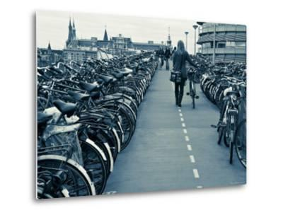 Holland, Amsterdam, Bicycle Park Outside the Main Train Station-Gavin Hellier-Metal Print