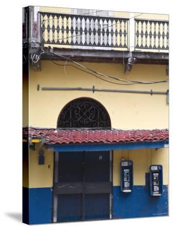 Panama, Panama City, House in Casco Viejo-Jane Sweeney-Stretched Canvas Print