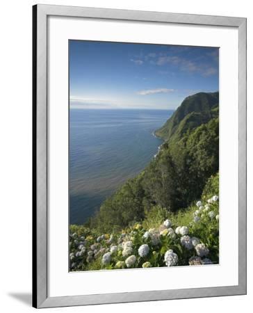 Coastline at Miradouro de Sossego Viewpoint, Sao Miguel Island, Azores, Portugal-Alan Copson-Framed Photographic Print