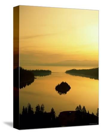 Lake Tahoe at Dawn, Tahoe, Nevada, USA-Steve Vidler-Stretched Canvas Print