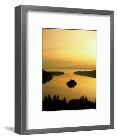 Lake Tahoe at Dawn, Tahoe, Nevada, USA-Steve Vidler-Framed Photographic Print