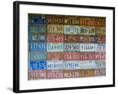 USA, Missouri, Route 66, Near Carthage, Car Number Plates-Alan Copson-Framed Photographic Print