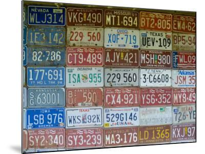 USA, Missouri, Route 66, Near Carthage, Car Number Plates-Alan Copson-Mounted Photographic Print