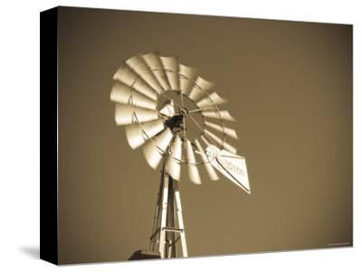 USA, Oklahoma, Windpumps and Windmill-Alan Copson-Stretched Canvas Print