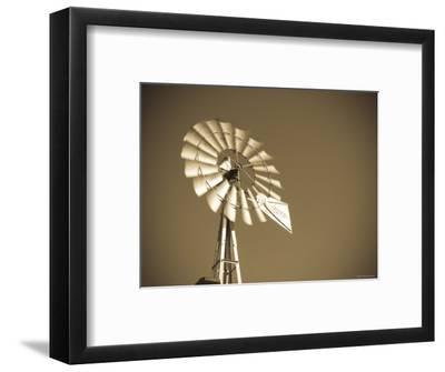 USA, Oklahoma, Windpumps and Windmill-Alan Copson-Framed Photographic Print