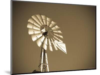 USA, Oklahoma, Windpumps and Windmill-Alan Copson-Mounted Photographic Print
