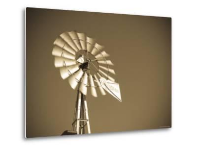 USA, Oklahoma, Windpumps and Windmill-Alan Copson-Metal Print