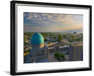 The Blue Domes of the Registan, Samarkand, Uzbekistan-Michele Falzone-Framed Photographic Print