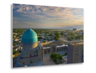 The Blue Domes of the Registan, Samarkand, Uzbekistan-Michele Falzone-Metal Print