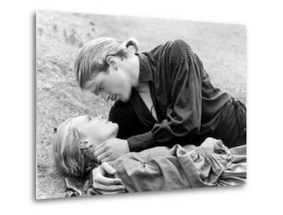 Buttercup and Westley Laying on the Grass--Metal Print