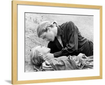 Buttercup and Westley Laying on the Grass--Framed Photo