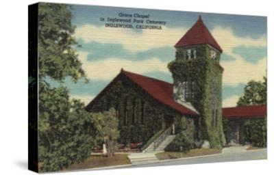 Inglewood, California - Grace Chapel, Inglewood Park Cemetery-Lantern Press-Stretched Canvas Print