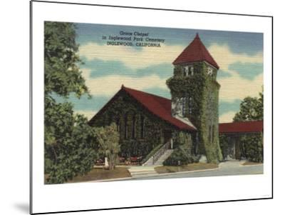 Inglewood, California - Grace Chapel, Inglewood Park Cemetery-Lantern Press-Mounted Art Print