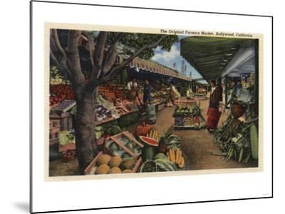 Hollywood, California - View of the Original Farmer's Market-Lantern Press-Mounted Art Print