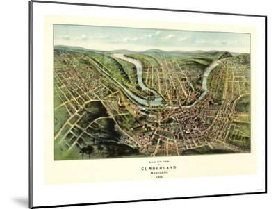 Cumberland, Maryland - Panoramic Map-Lantern Press-Mounted Art Print