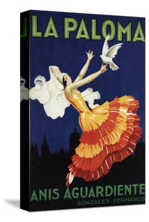 Spain - La Paloma - Anis Aguardiente Promotional Poster-Lantern Press-Stretched Canvas Print