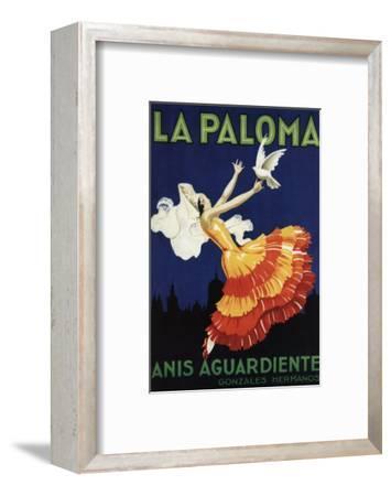 Spain - La Paloma - Anis Aguardiente Promotional Poster-Lantern Press-Framed Art Print
