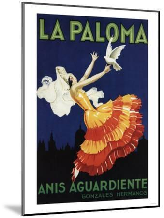 Spain - La Paloma - Anis Aguardiente Promotional Poster-Lantern Press-Mounted Art Print