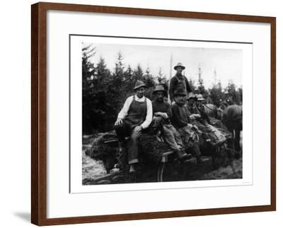 Chinook, WA - Logging Crew-Lantern Press-Framed Art Print