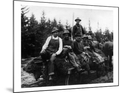 Chinook, WA - Logging Crew-Lantern Press-Mounted Art Print