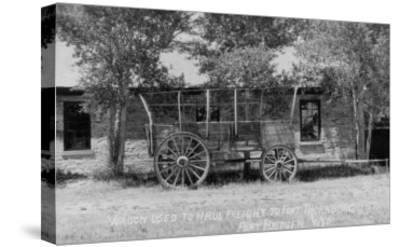 Fort Bridger, Wyoming - Frieght Wagon Scene-Lantern Press-Stretched Canvas Print