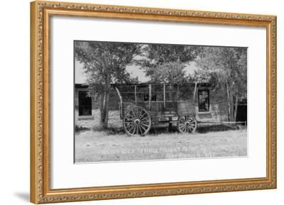 Fort Bridger, Wyoming - Frieght Wagon Scene-Lantern Press-Framed Art Print