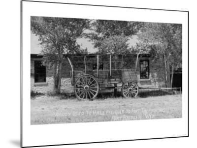 Fort Bridger, Wyoming - Frieght Wagon Scene-Lantern Press-Mounted Art Print