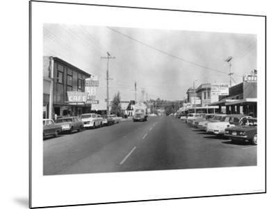 Ferndale, Washington - A Street Scene-Lantern Press-Mounted Art Print