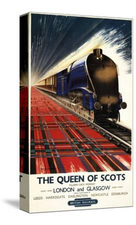 Great Britain - Queen of Scots Pullman Train British Railways Poster-Lantern Press-Stretched Canvas Print