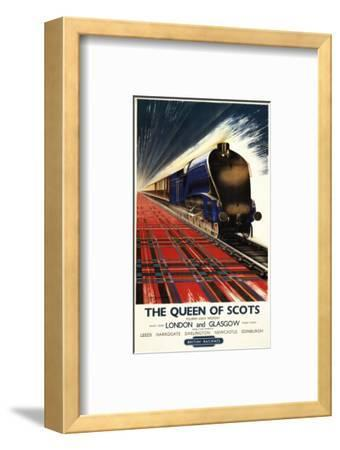 Great Britain - Queen of Scots Pullman Train British Railways Poster-Lantern Press-Framed Art Print