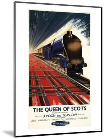 Great Britain - Queen of Scots Pullman Train British Railways Poster-Lantern Press-Mounted Art Print