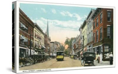 Kingston, New York - Southern View of Wall Street-Lantern Press-Stretched Canvas Print