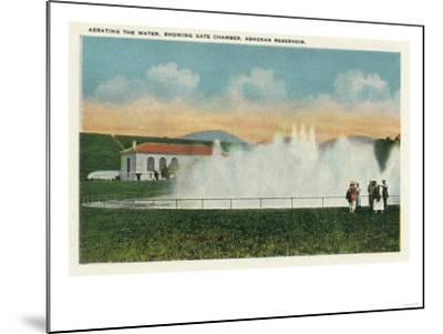 Catskill Park, New York - Aerating the Water at Ashokan Reservoir-Lantern Press-Mounted Art Print