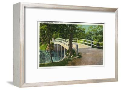 Concord, Massachusetts - View of Old North Bridge-Lantern Press-Framed Art Print