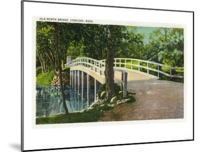 Concord, Massachusetts - View of Old North Bridge-Lantern Press-Mounted Art Print