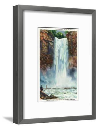 Ithaca, New York - View of Taughannock Falls from the Bottom-Lantern Press-Framed Art Print