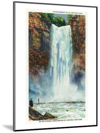 Ithaca, New York - View of Taughannock Falls from the Bottom-Lantern Press-Mounted Art Print