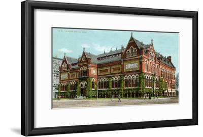 Boston, Massachusetts - Exterior View of the Art Museum-Lantern Press-Framed Art Print
