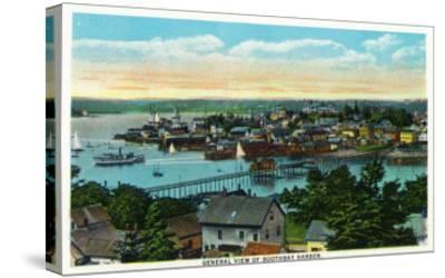 Boothbay, Maine - Aerial View of the Boothbay Harbor-Lantern Press-Stretched Canvas Print