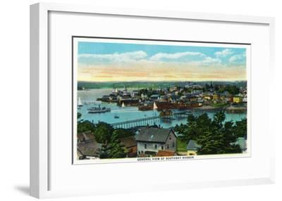 Boothbay, Maine - Aerial View of the Boothbay Harbor-Lantern Press-Framed Art Print