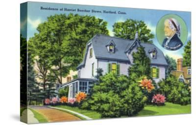 Hartford, Connecticut - Exterior View of Harriet Beecher Stowe's Residence-Lantern Press-Stretched Canvas Print
