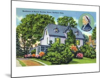 Hartford, Connecticut - Exterior View of Harriet Beecher Stowe's Residence-Lantern Press-Mounted Art Print