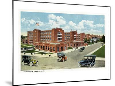 Bridgeport, Connecticut - Exterior View of the Remington Arms, UMC-Lantern Press-Mounted Art Print