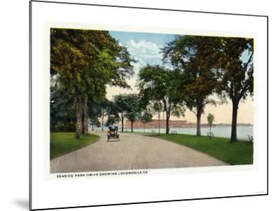 Bridgeport, Connecticut - Seaside Park Drive View Showing Locomobile Company-Lantern Press-Mounted Art Print