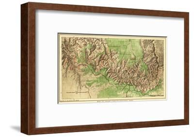 Grand Canyon National Park - Panoramic Map-Lantern Press-Framed Art Print